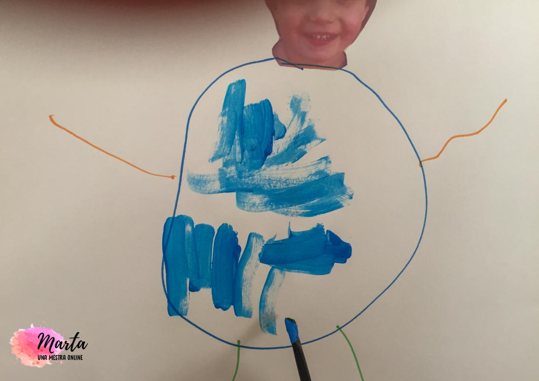 Dibuix del cos fet per nen